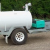 600 Ltr Galvanised Frame Fuel Trailer For Sale w Pump & Water Tank