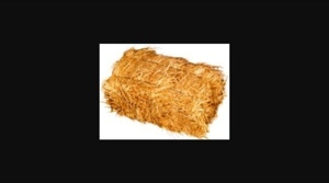 Small square wheaten straw