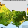 Grass and Crop curing in the Mallee, North Wimmera and Gippsland