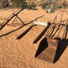 3 Point Linkage Jib/Hay Forks & Bucket For Sale