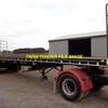 36- 40FT Bogie or Tri Axle Flat Top Truck / Semi Trailer