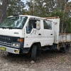 Tipper toyota dyna with drop sides , diesel 5 speed strong hydralics
