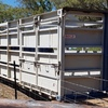 40ft Single Deck Cattle Crate Mounted On 40ft Container Pins