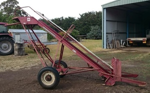 International small bale hay loader