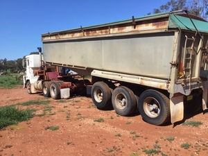 Borcat 34'x6' Grain Tri-Axle Tipper Trailer