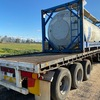Stainless Steel Water Tank on 40' Flat top Trailer