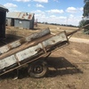 Old two wheel farm trailer suitable for restoration