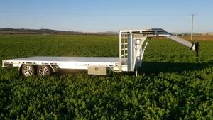 6x2.4m aluminium goosenck flat top trailer