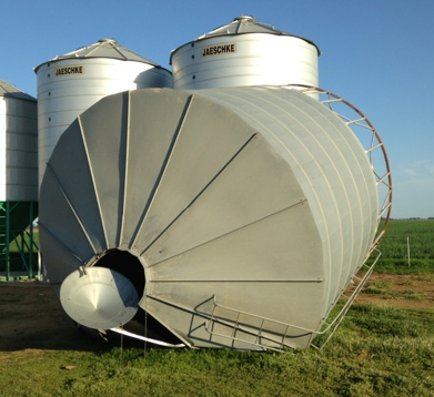 damaged silo for sale as is approx 50mt machinery. Black Bedroom Furniture Sets. Home Design Ideas