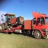 2005 WDX 1902 SP Windrower with 1994 hino truck for transport