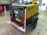 Compair C38 130 cfm at 102 psi pressure on a 2 wheel road tow chassis with road lights Ex Govt machine with genuine 204 hrs