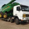 FH12 Volvo Riged Twin Steer Header / Harvester Carrier Truck For Sale