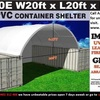 C2020 / C2040 New unused PVC Dome Container Shelter for use with 20 and 40 ft containers