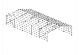 New Open Ended Heavy Duty Steel Frame 18m x 40m x 5.5m