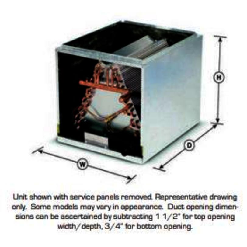 Aspen Cc Evaporator Coil 4 Ton Nominal Upflow Downflow Air Flow Cased Enclosure R 410a Refrigerant Famous Supply