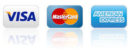 accepts Visa Mastercard and American Express