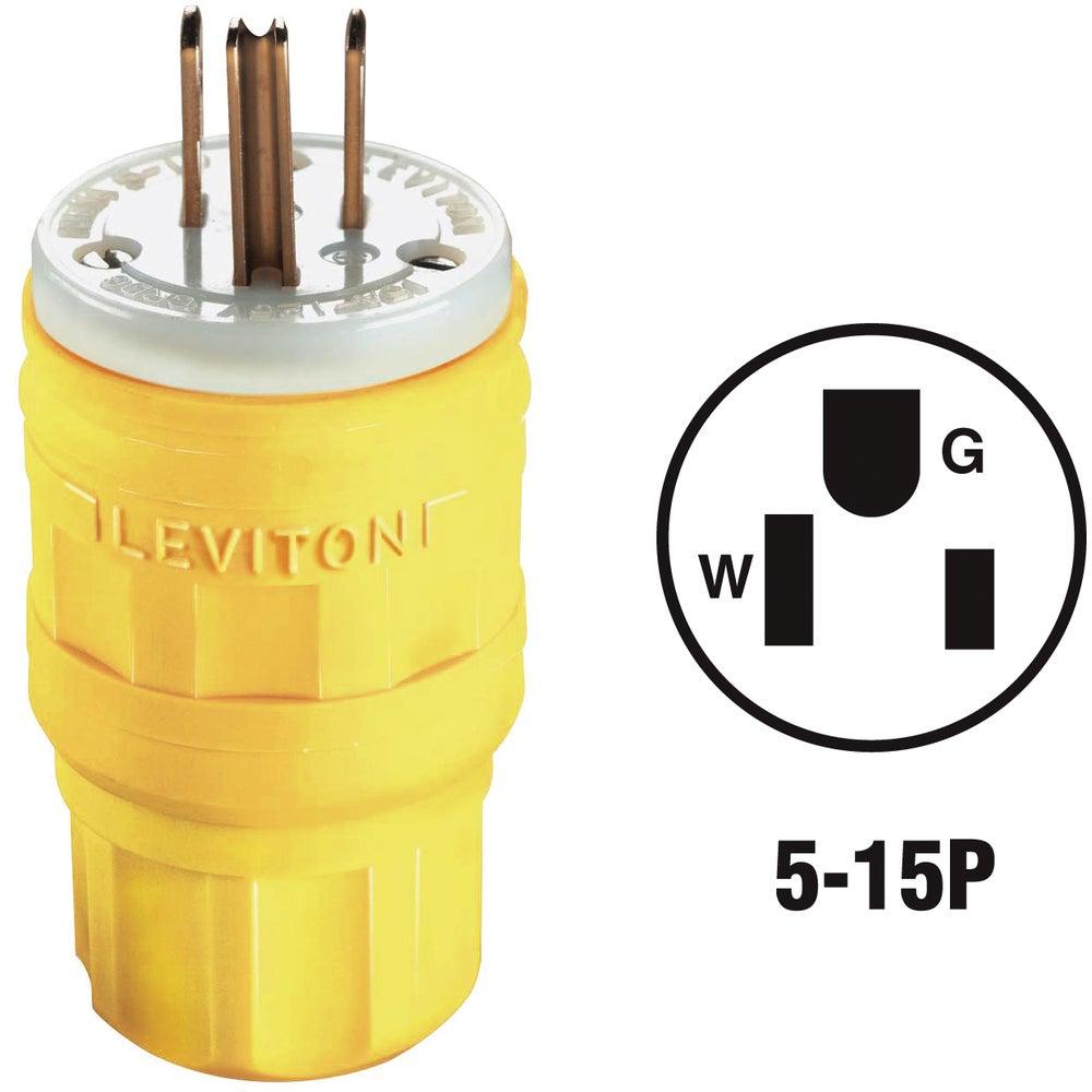 Leviton 163-14w47-000 Leviton Wetguard Cord Plug