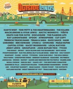 Outside Lands 2014 lineup