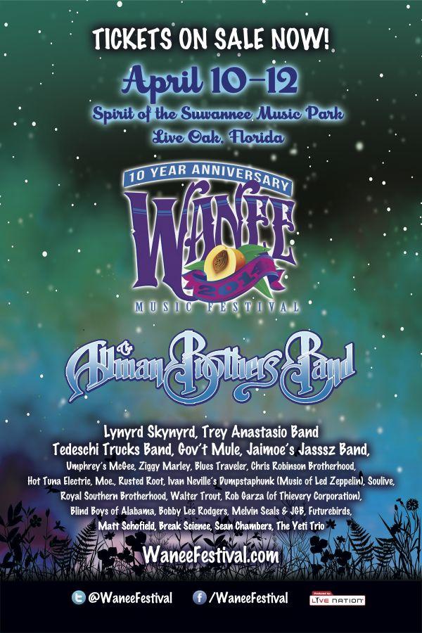 Wanee Festival 2015 Lineup April 16 18 Live Oak Florida : Wanee Music Festival 2014 lineup from familyoffestivals.com size 600 x 900 jpeg 117kB