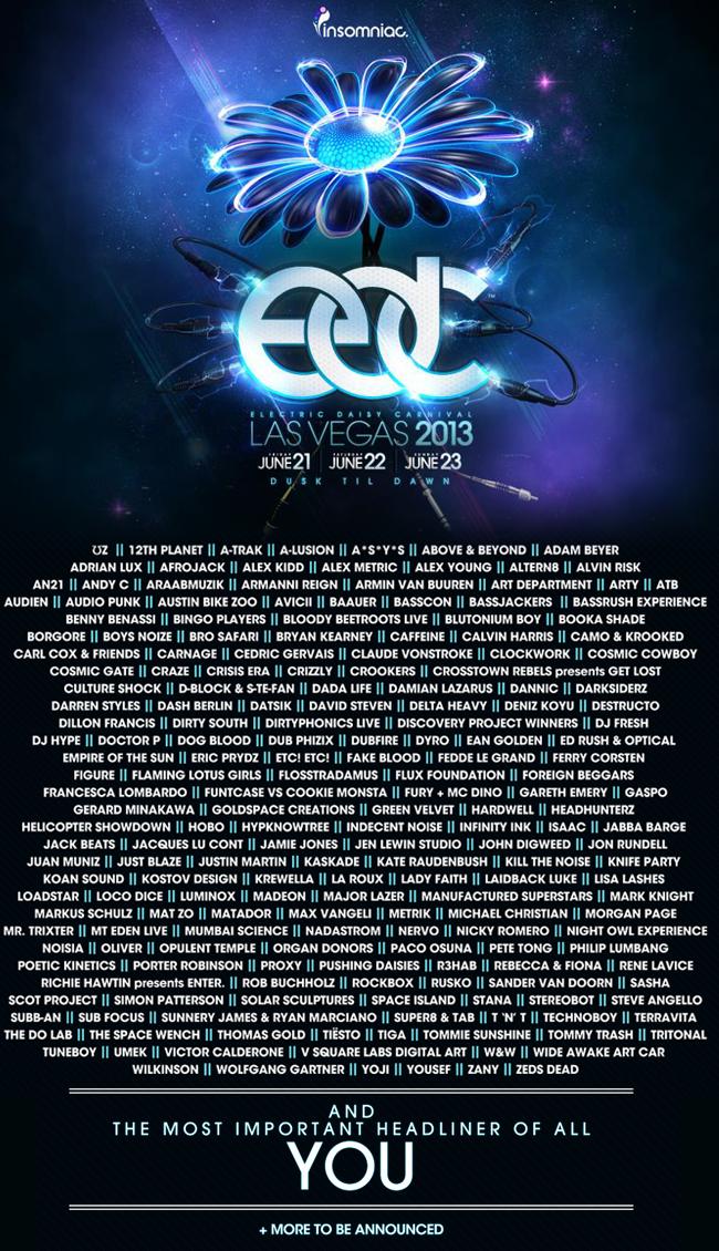 Electric Daisy Carnival Lineup Tickets June Las - Edc las vegas map 2016