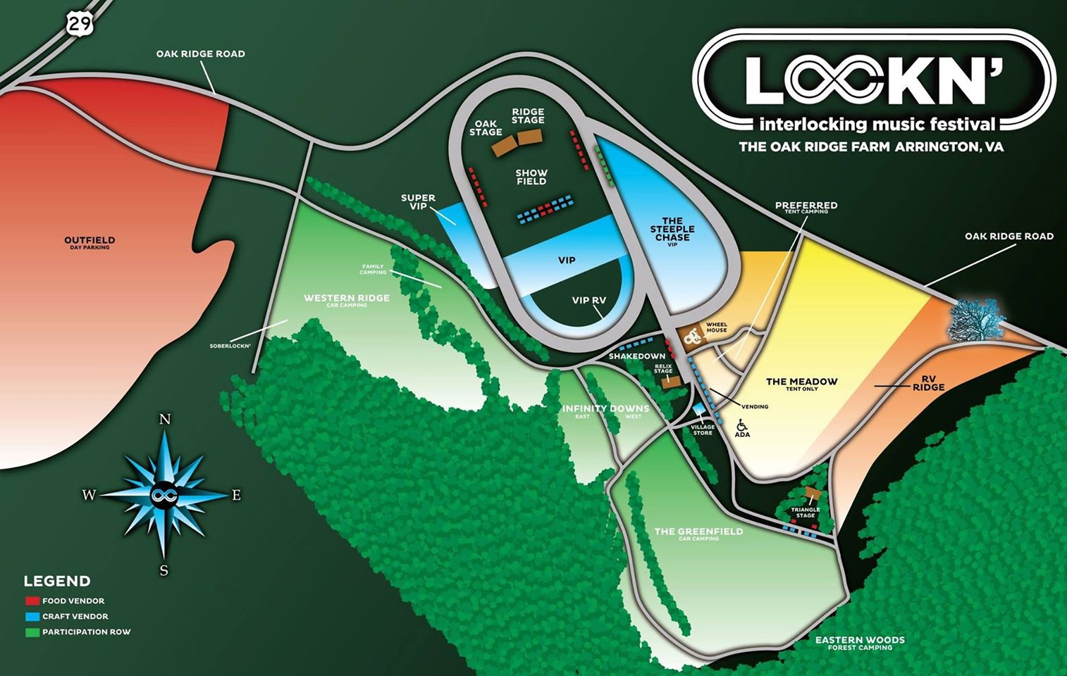 LOCKN\' Festival 2014 Map – Family of Festivals | Festivals, Concerts ...