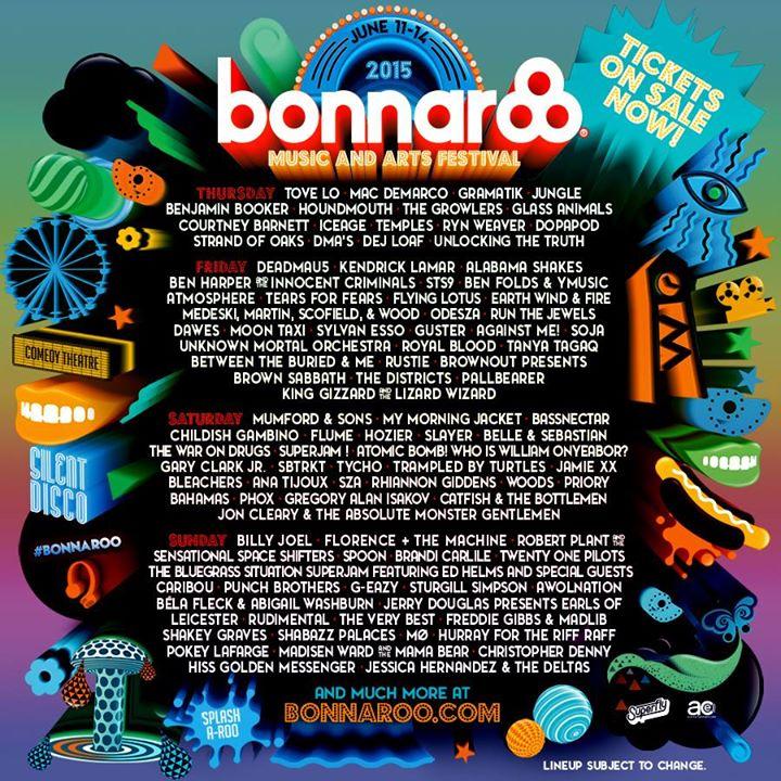 Bonnaroo single day tickets 2015