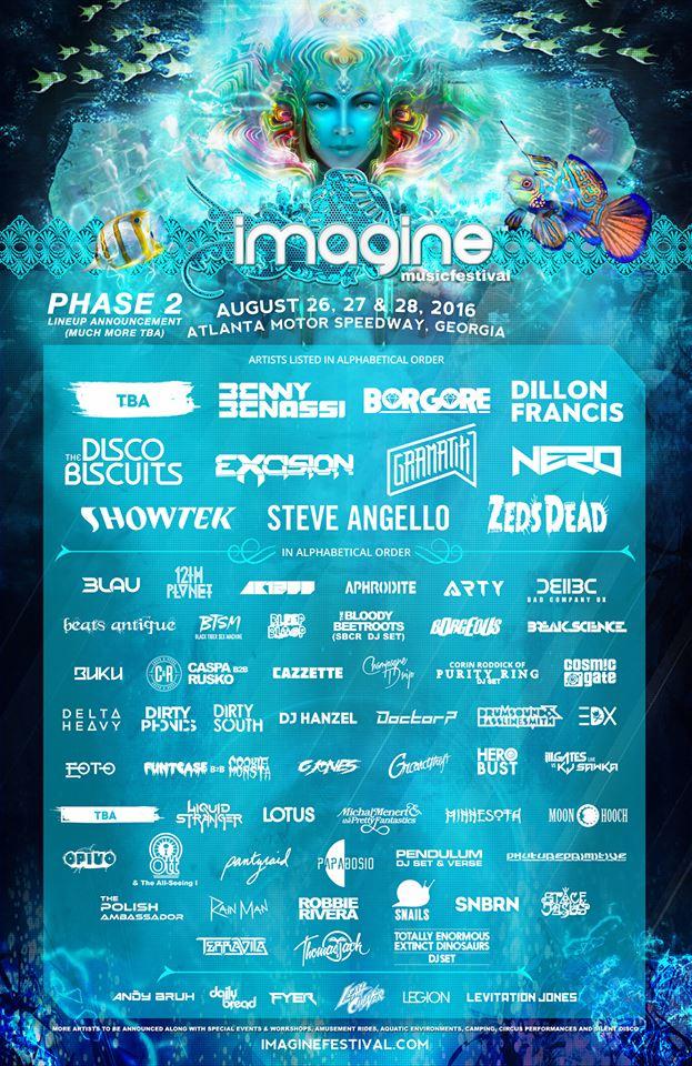 Imagine Festival 2016 Lineup - Phase 2