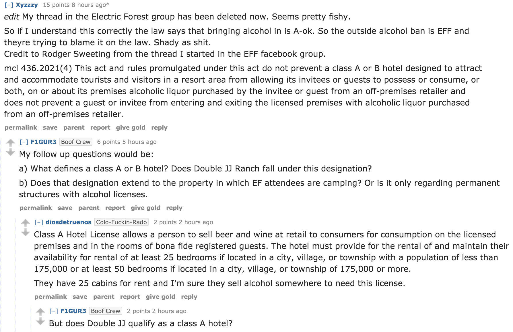 Electric Forest Bans Alcohol in Campgrounds and Venue_reddit-thread
