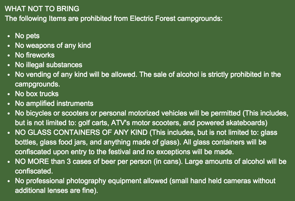 Electric Forest HQ Responds to the Recent Alcohol Ban-archive