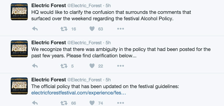 Electric Forest HQ Responds to the Recent Alcohol Ban