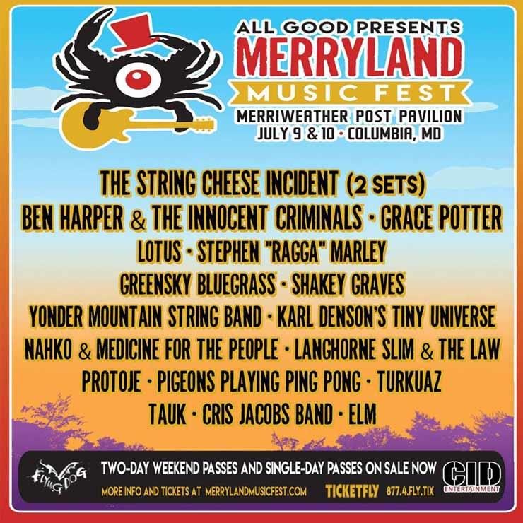 Merryland Music Fest 2016 Lineup