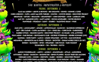 Nocturnal Wonderland 2016 Lineup