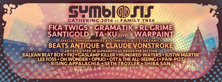 Symbiosis Gathering 2016 Lineup