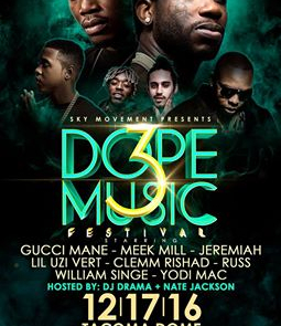 Dope Music Festival 2016 Lineup