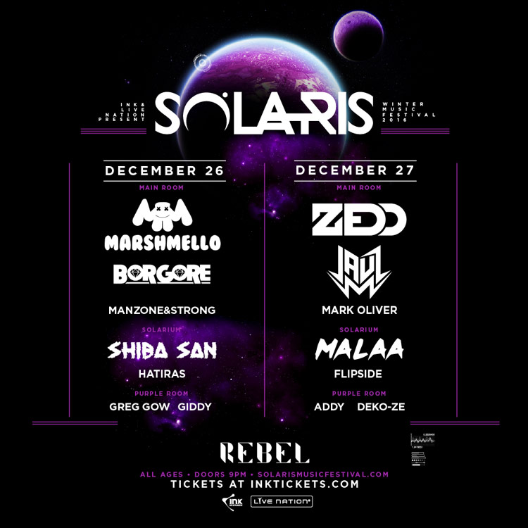 Solaris Winter Music Festival 2016 Lineup