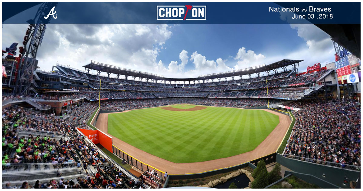 Fans at SunTrust Park captured at selfie level in this 360-degree photo!