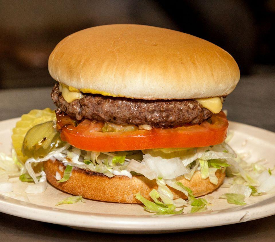 Lunch in Austin Hut's Hamburgers