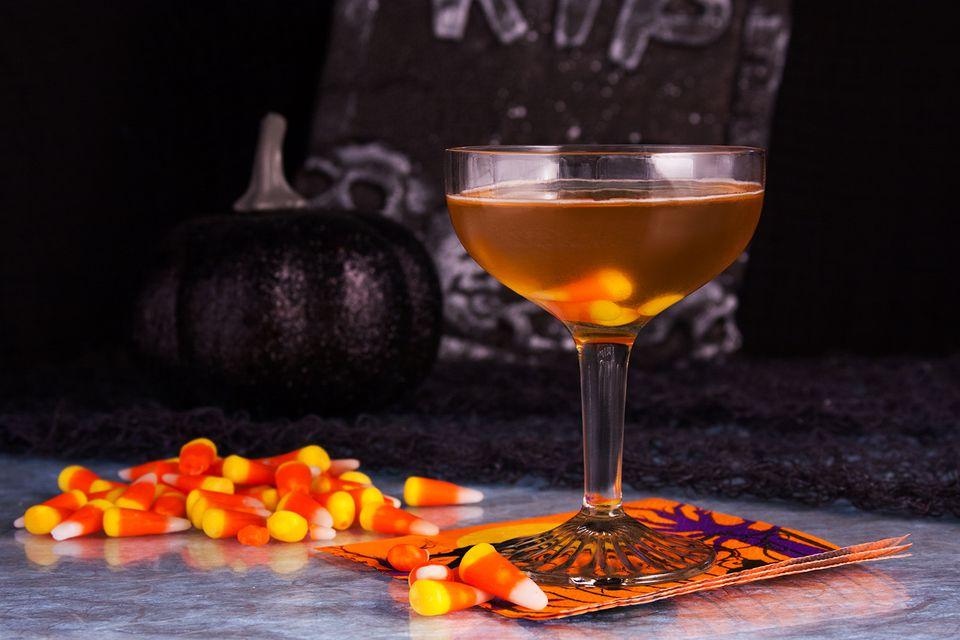 scary cocktails candy corn