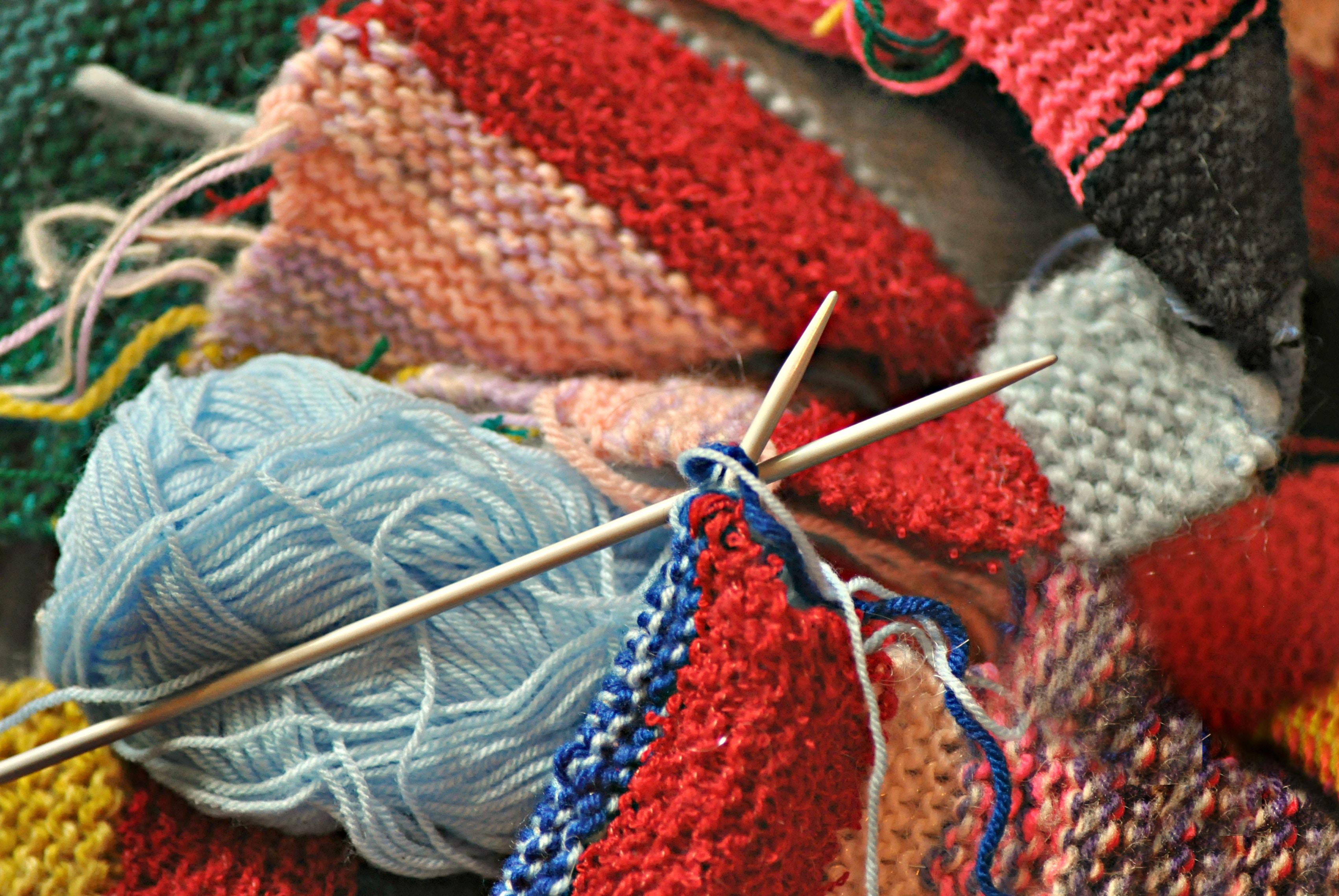 fall homesteading knitting