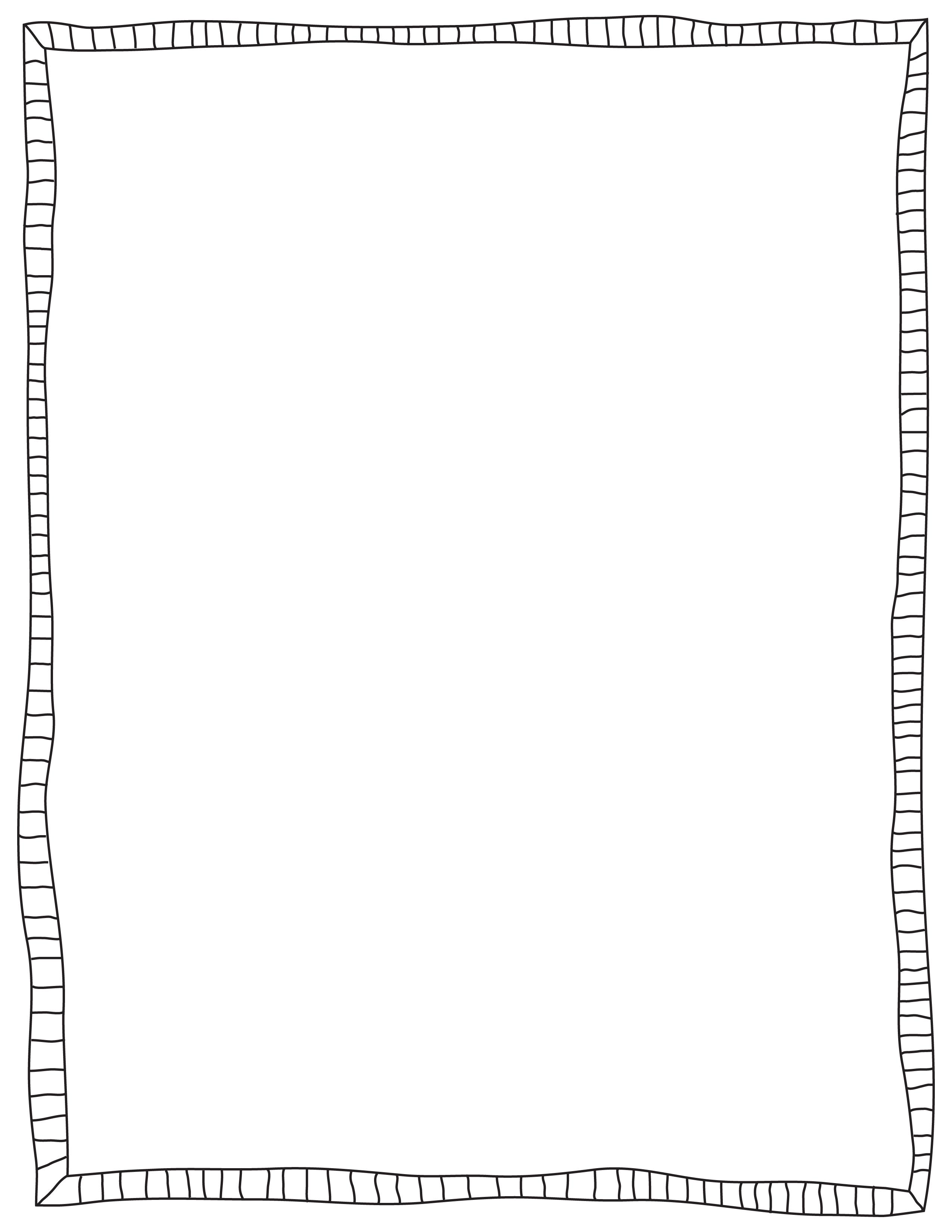 Fancy Page Borders And Frames Black doodled border frame