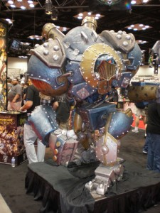 Big Blue at the Privateer Press booth.