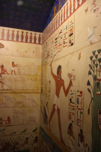 Rosicrucian Egyptian Museum tomb story wall