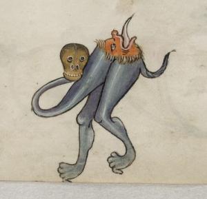A medieval grotesque.