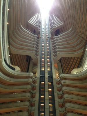 The Marriott looks like a spaceship.
