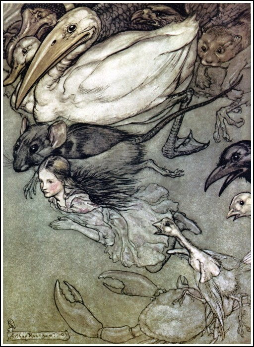 Alice_in_Wonderland_by_Arthur_Rackham_-_02_-_The_Pool_of_Tears