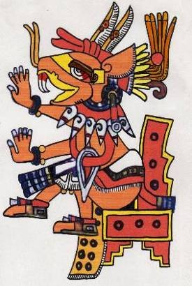 Huehuecoyotl, the Aztec trickster god