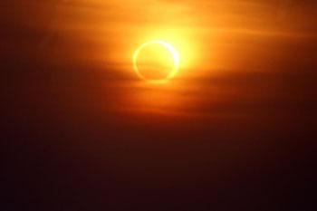 Annular solar eclipse Courtesy of NASA