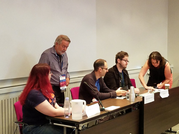 Beyond the Book Review: (l( Claire Rousseau, Gary K Wolfe, Alvaro Zinos-Amaro, Joel Cornah, Liza Trombi