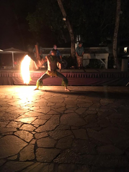 Nationally acclaimed fire dance at the luau.