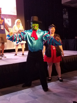 The Mask and his dance partner won 1st place in the Group Performance category.